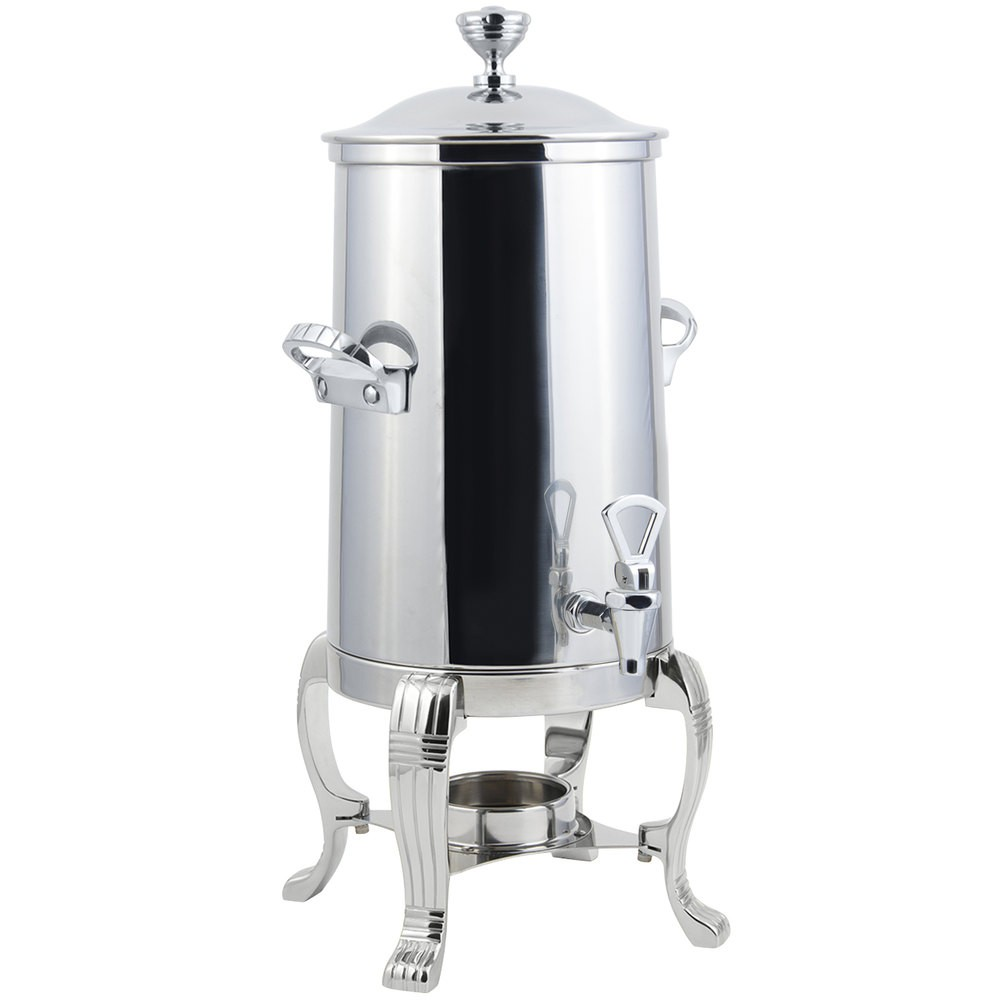 Bon Chef 41003-1C Aurora Single Wall Non-Insulated Coffee Urn with Chrome Trim, 3 1/2 Gallon