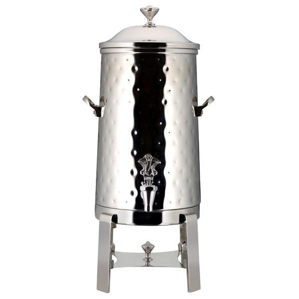 Bon Chef 42001C-H-E Contemporary Electric Coffee Urn with Chrome Trim and Hammered Finish, 1 1/2 Gallon