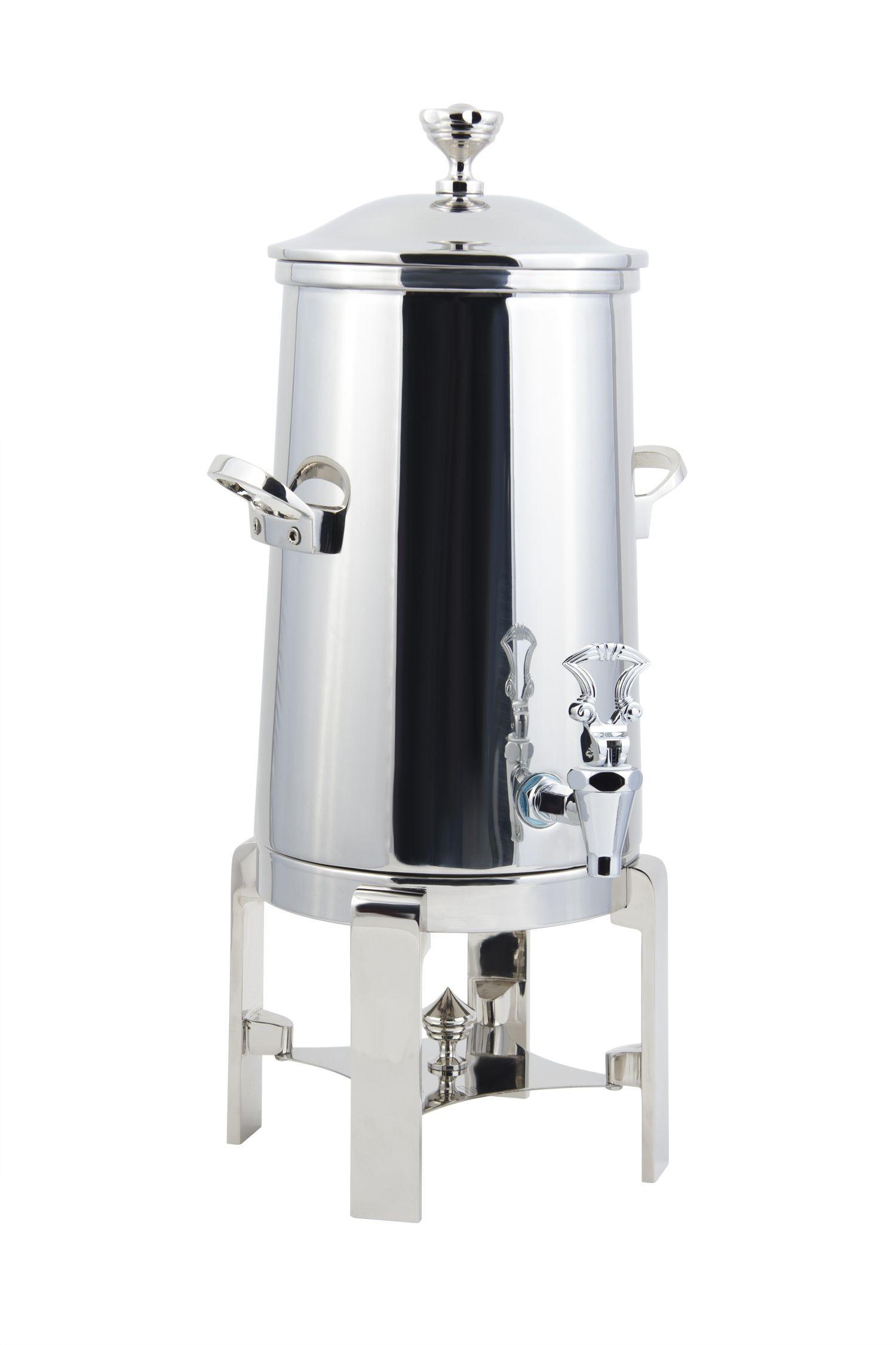 Bon Chef 42003C Contemporary Insulated Coffee Urn with Chrome Trim, 3 Gallon
