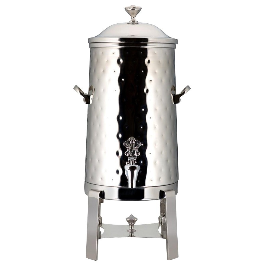 Bon Chef 42003C-H Contemporary Insulated Coffee Urn with Chrome Trim and Hammered Finish, 3 Gallon