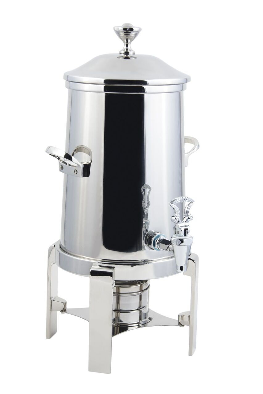 Bon Chef 42105-1C Contemporary Non-Insulated Coffee Urn with Chrome Trim, 5 Gallon
