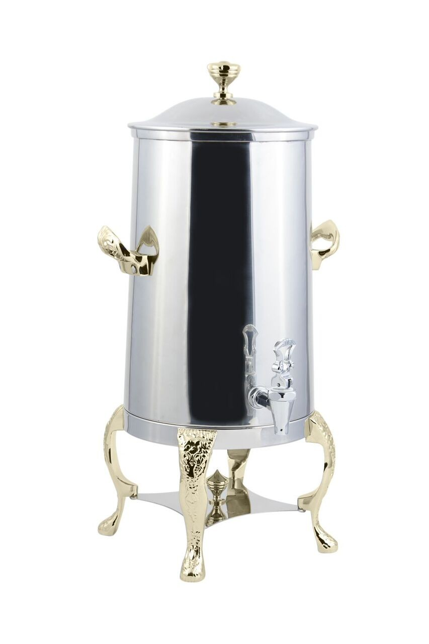 Bon Chef 47003-1 Renaissance Insulated Coffee Urn with Brass Trim, 3 Gallon