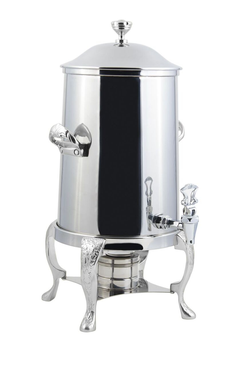 Bon Chef 47101-1C Renaissance Non-Insulated Coffee Urn with Chrome Trim, 2 Gallon