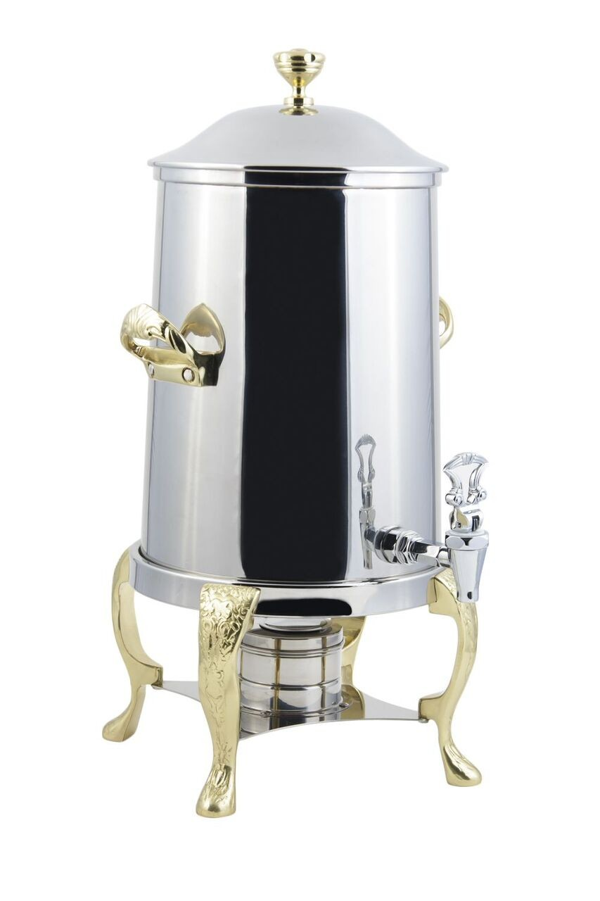 Bon Chef 47103-1 Renaissance Non-Insulated Coffee Urn with Contemporary Handle, 3 1/2 Gallon