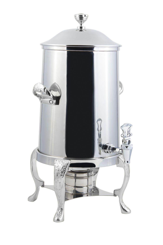 Bon Chef 47103C Renaissance Non-Insulated Coffee Urn with Chrome Trim, 3 1/2 Gallon