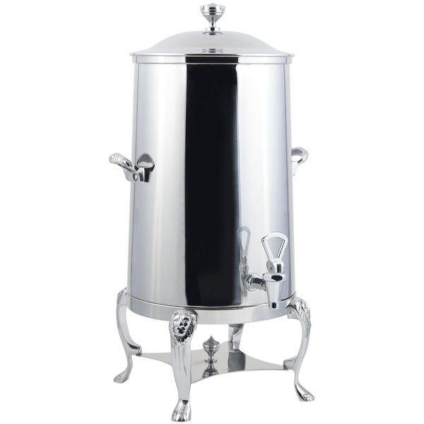 Bon Chef 48001-1C-E Lion Electric Coffee Urn with Chrome Trim, 1 1/2 Gallon