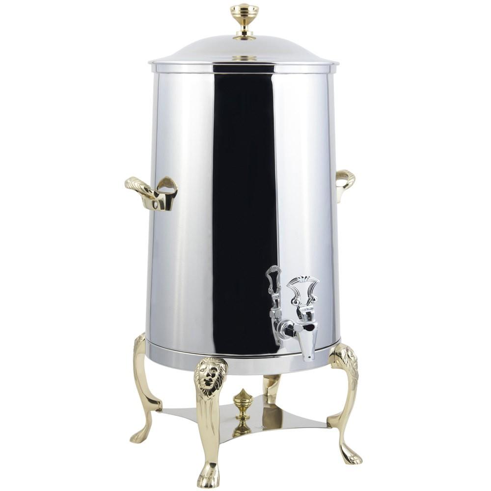 Bon Chef 48001-E Lion Electric Coffee Urn with Brass Trim, 1 1/2 Gallon