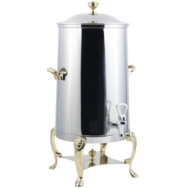 Bon Chef 48003-1-E Lion Electric Coffee Urn with Brass Trim, 3 Gallon