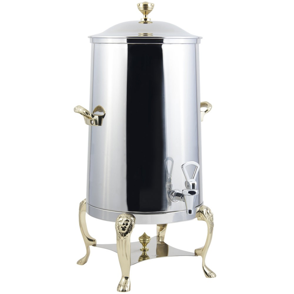 Bon Chef 48003-1 Lion Insulated Coffee Urn with Brass Trim, 3 Gallon