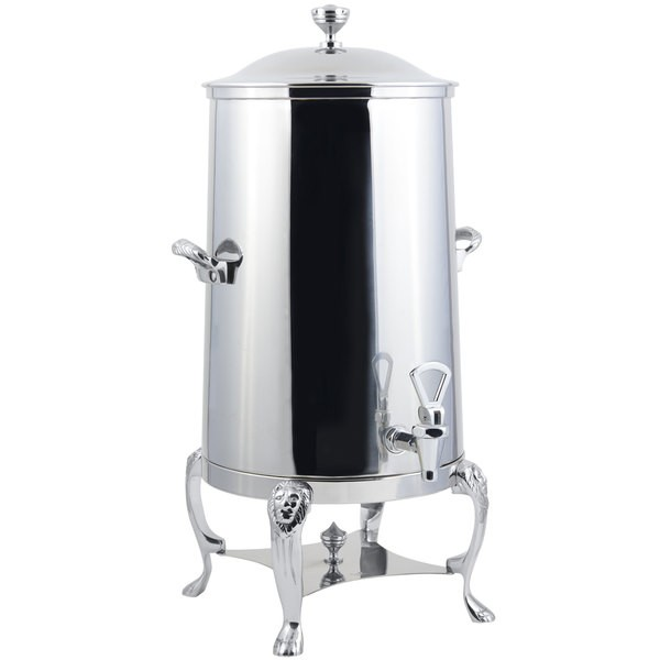 Bon Chef 48003-1C-E Lion Electric Coffee Urn with Chrome Trim, 3 Gallon