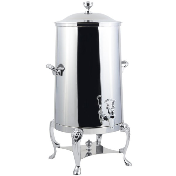 Bon Chef 48003C-E Lion Electric Coffee Urn with Chrome Trim, 3 Gallon