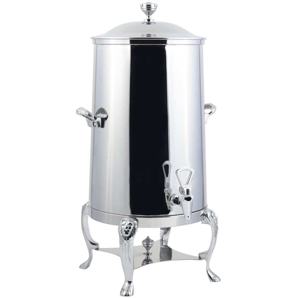 Bon Chef 48005-1C Lion Insulated Coffee Urn with Chrome Trim, 5 Gallon
