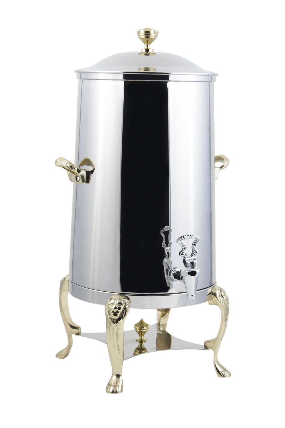Bon Chef 48005 Lion Insulated Coffee Urn with Brass Trim, 5 Gallon
