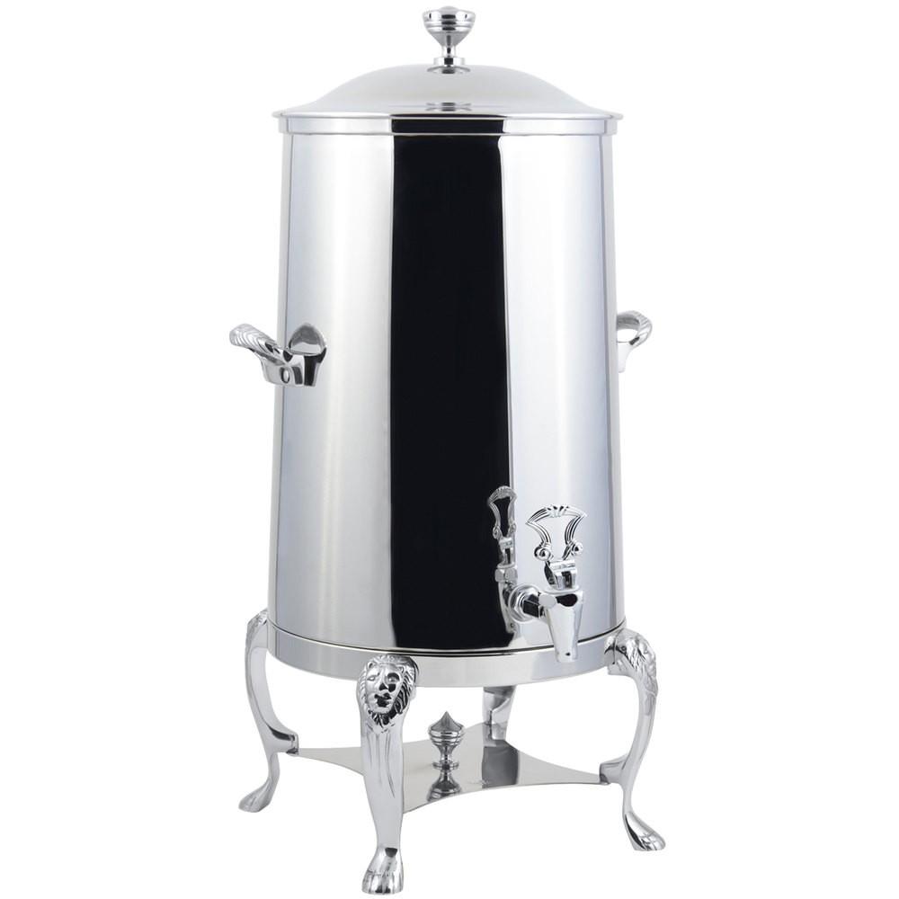 Bon Chef 48005C-E Lion Electric Coffee Urn with Chrome Trim, 5 Gallon
