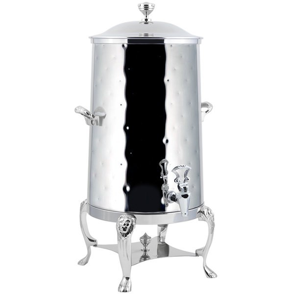 Bon Chef 48005C-H-E Lion Electric Coffee Urn with Chrome Trim and Hammered Finish, 5 Gallon