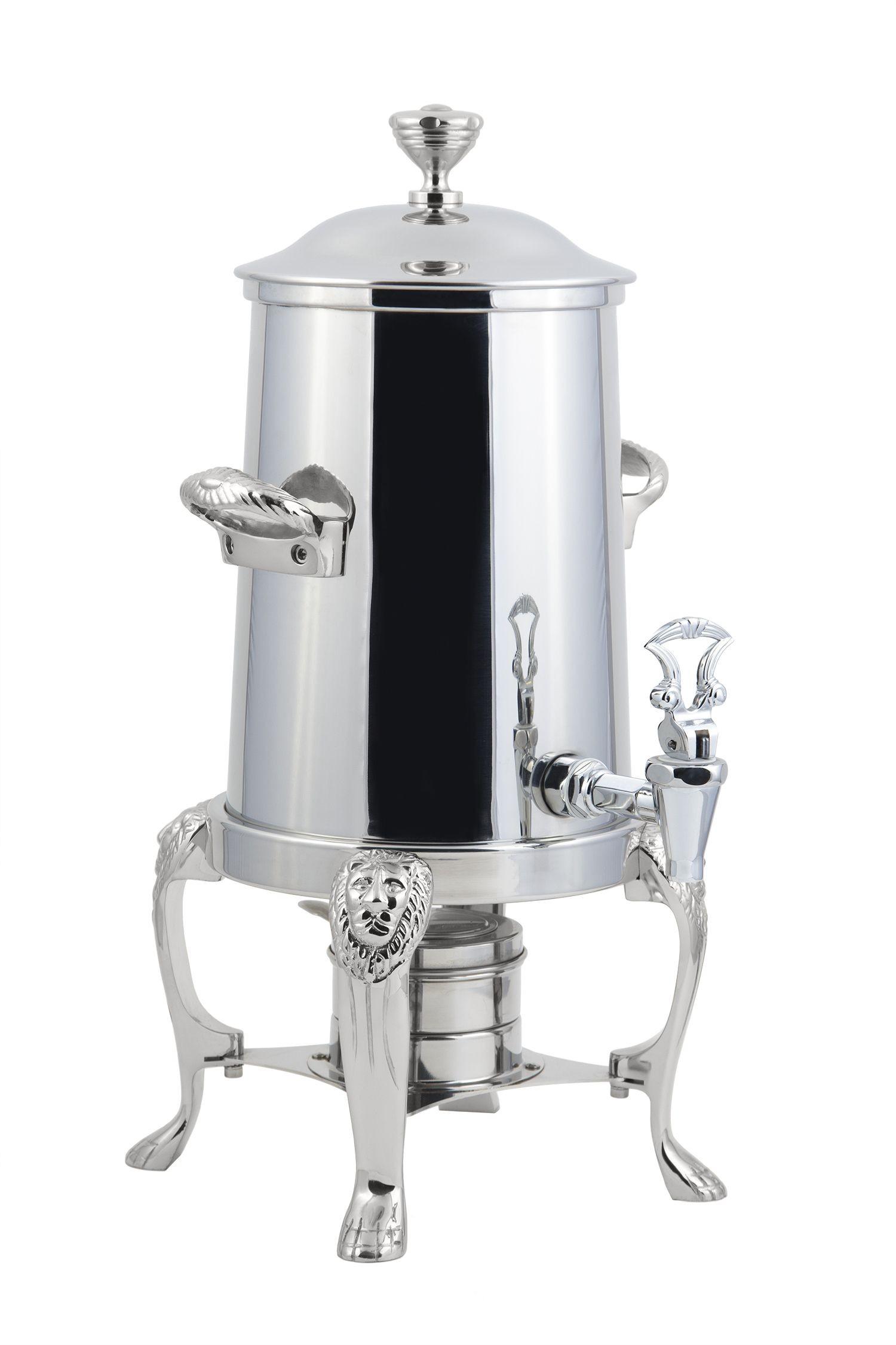 Bon Chef 48103C Lion Non-Insulated Coffee Urn with Chrome Trim, 3 1/2 Gallon