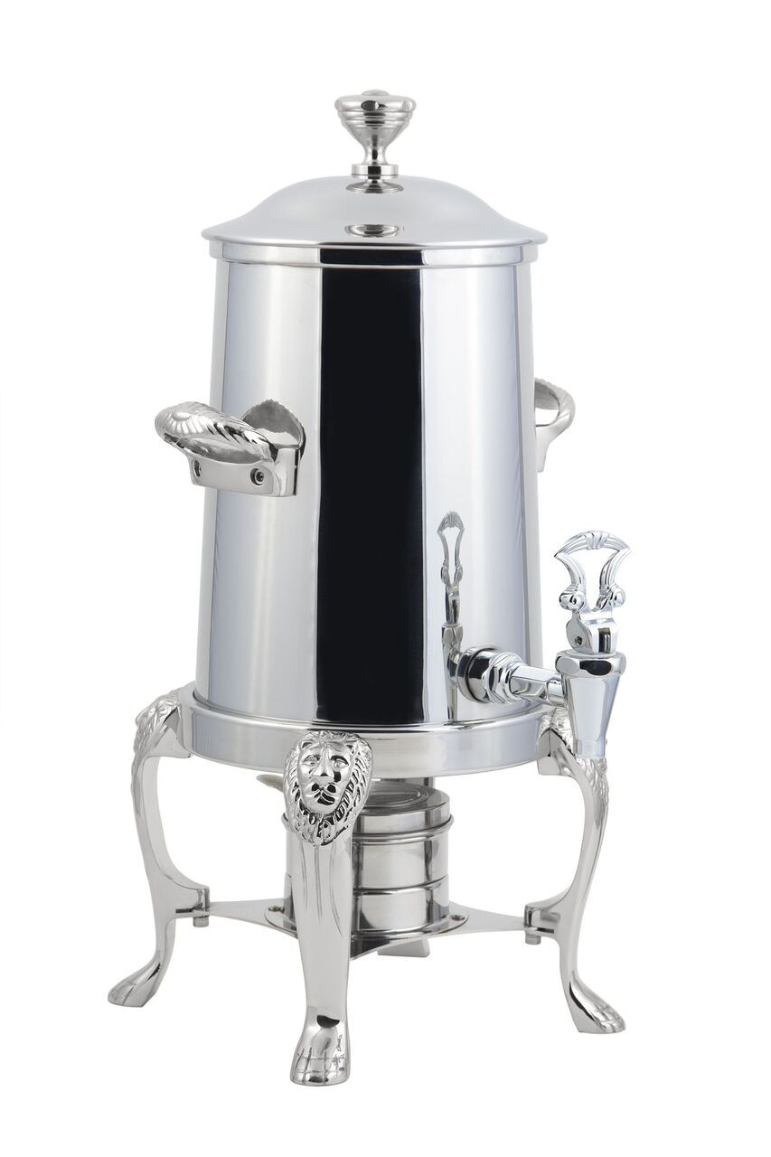Bon Chef 48105-1C Lion Non-Insulated Coffee Urn with Chrome Trim, 5 1/2 Gallon