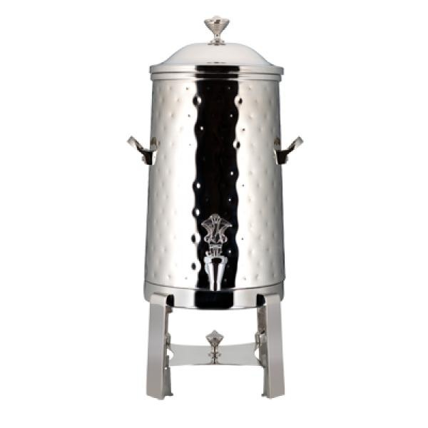 Bon Chef 49001-1C-H-E Roman Electric Coffee Urn with Chrome Trim, Hammered Finish, 1 1/2 Gallon