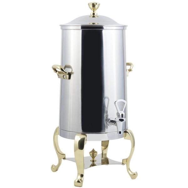 Bon Chef 49001-E Roman Electric Coffee Urn with Brass Trim, 1 1/2 Gallon