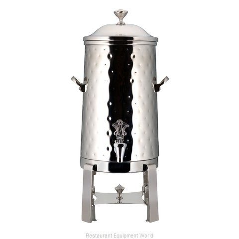 Bon Chef 49001-H-E Roman Electric Coffee Urn with Brass Trim and Hammered Finish, 1 1/2 Gallon