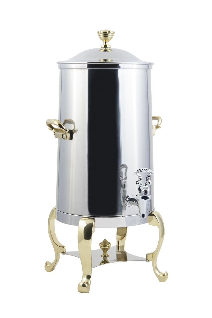 Bon Chef 49003-1 Roman Insulated Coffee Urn with Brass Trim, 3 Gallon