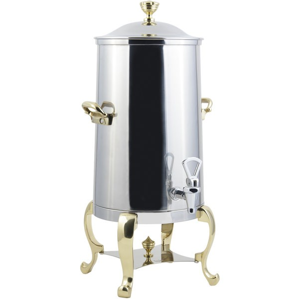 Bon Chef 49003-E Roman Electric Coffee Urn with Brass Trim, 3 Gallon