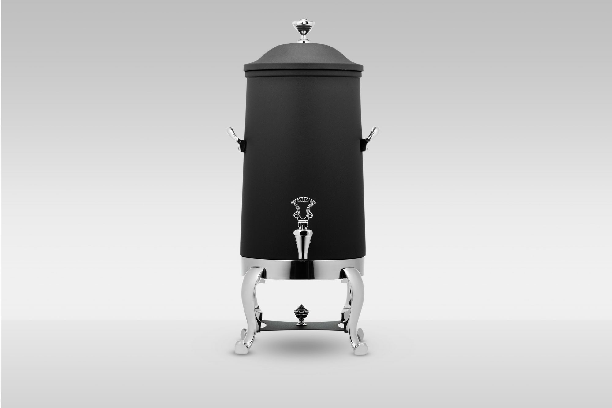 Bon Chef 49003-Nero Roman Insulated Coffee Urn with Brass Trim and Nero Finish, 3 Gallon