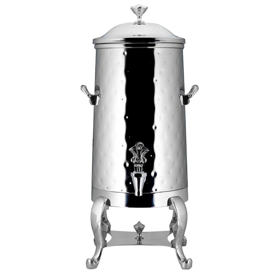 Bon Chef 49005C-H Roman Insulated Coffee Urn with Chrome Trim and Hammered Finish, 5 Gallon