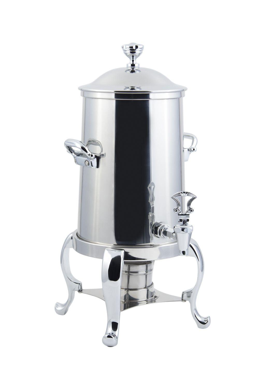 Bon Chef 49103C Roman Non-Insulated Coffee Urn with Chrome Trim, 3 1/2 Gallon