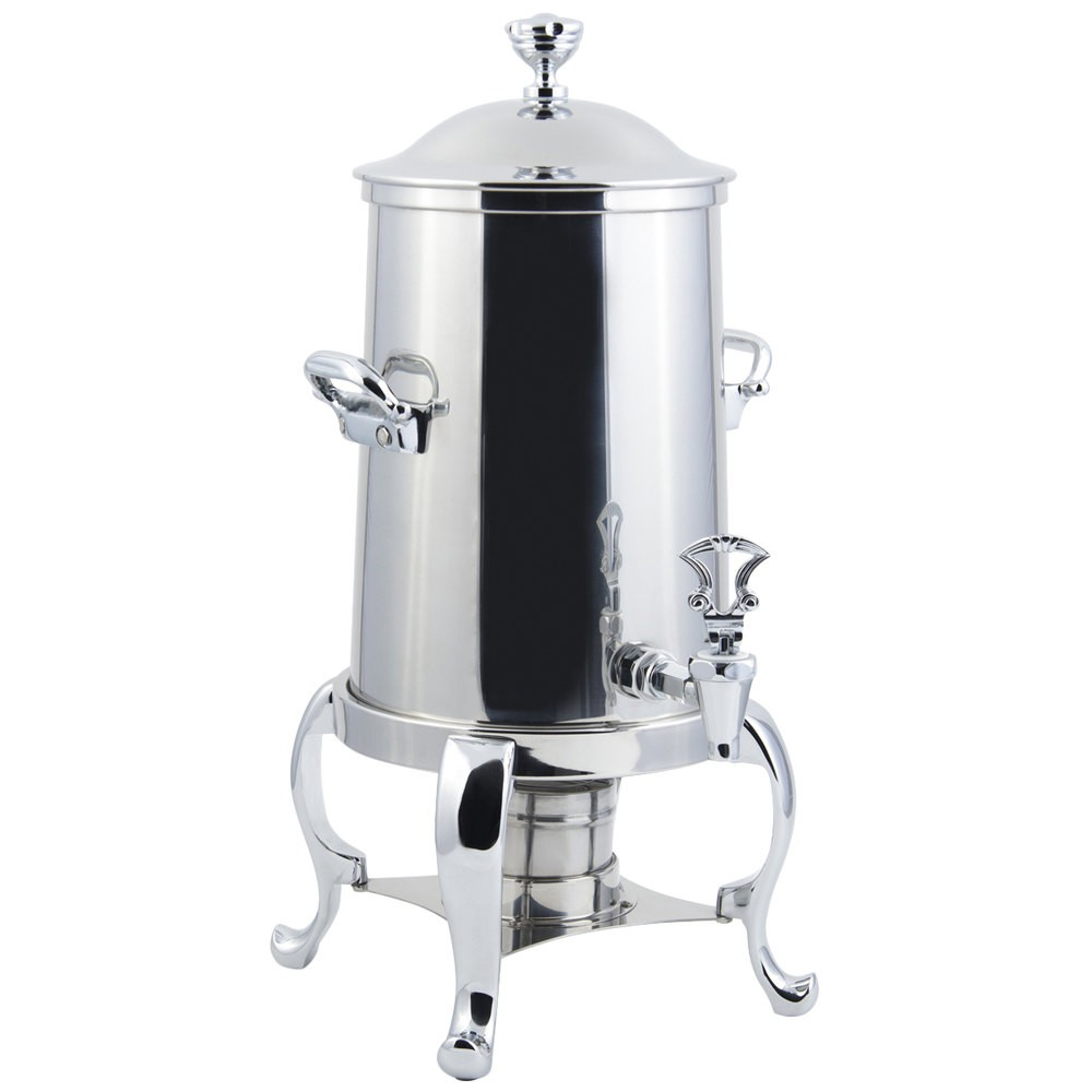Bon Chef 49111C Roman Sleek Line Non-Insulated Coffee Urn with Chrome Trim, 2 Gallon