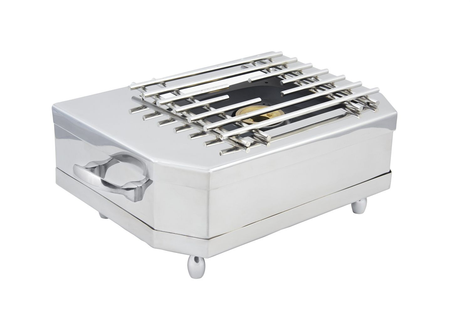 """Bon Chef 50001CH Chrome Stove Top Cover Up, 21"""" x 12"""" x 5"""""""