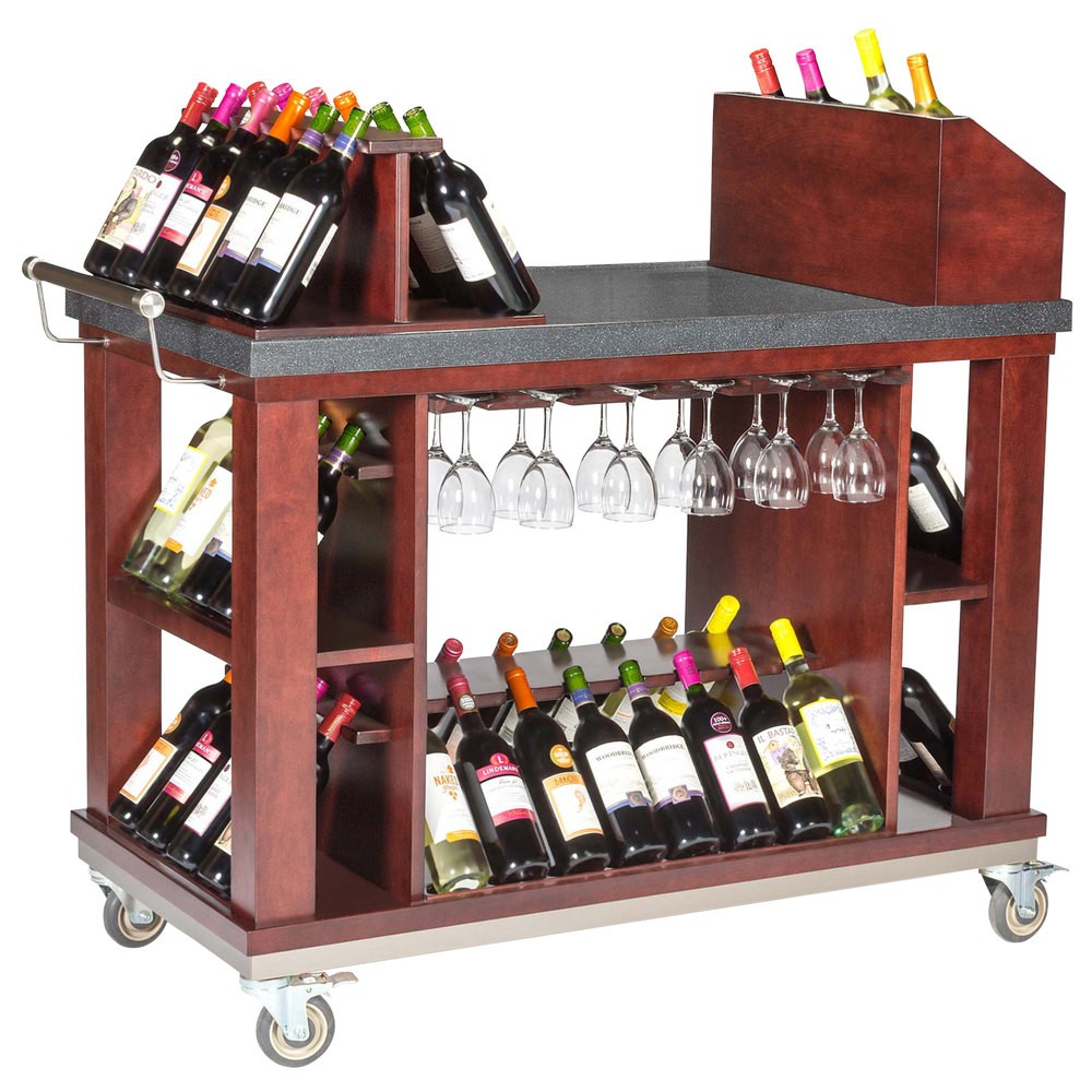 """Bon Chef 50048 Wine and Cordial Cart, 48"""" x 24"""" x 45 1/2"""""""