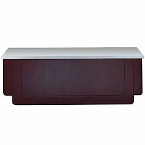Bon Chef 50080 Classic Buffet Station with Walnut Mahogany Finish and Standard Corian Top, 8' L