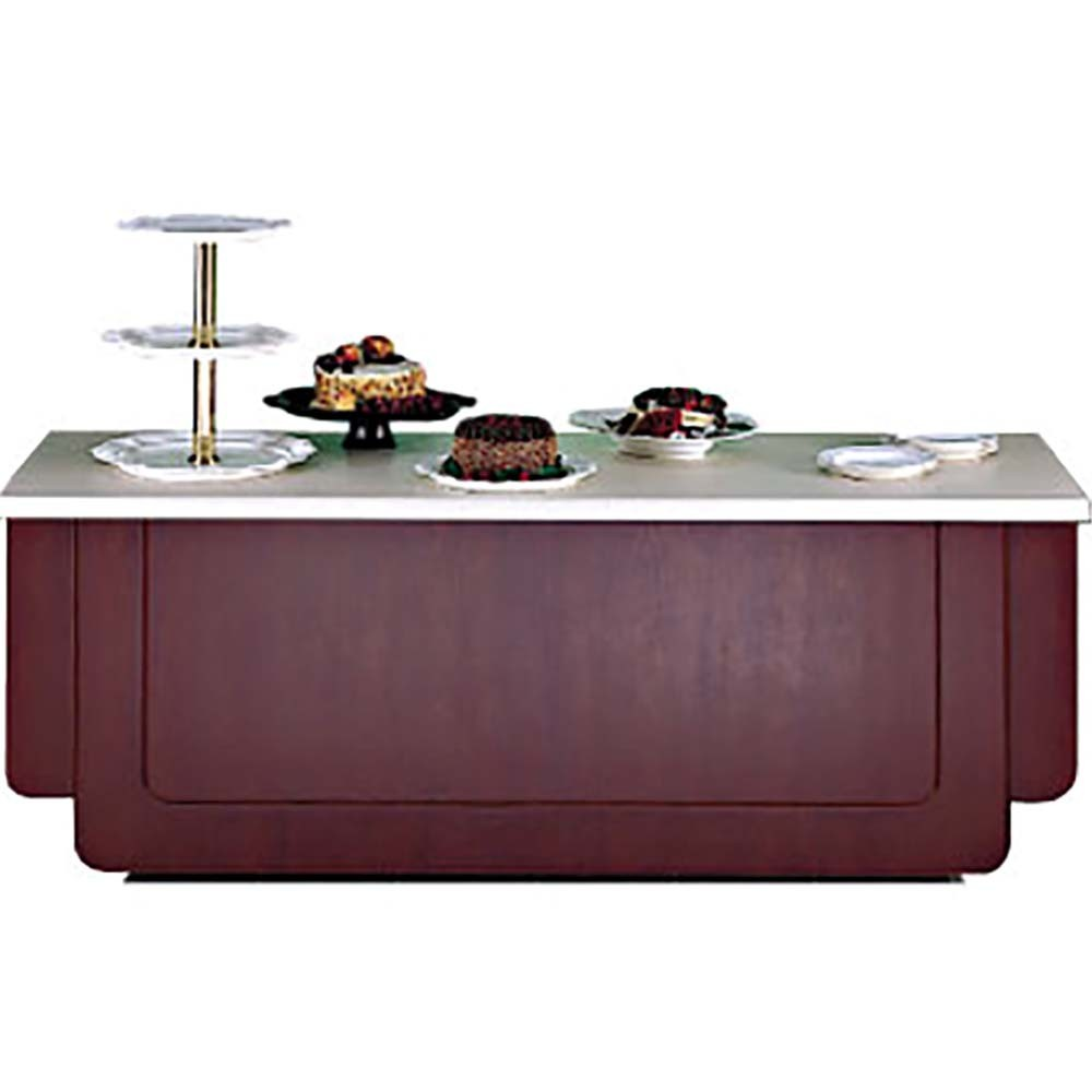 Bon Chef 50081 Classic Buffet Station with Pickled Oak Finish and Standard Corian Top, 8' L