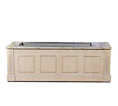 "Bon Chef 50086 Euro Modular Buffet Station with Walnut Mahogany Finish and Standard Corian Top, 8' x 30"" x 34 1/2"""