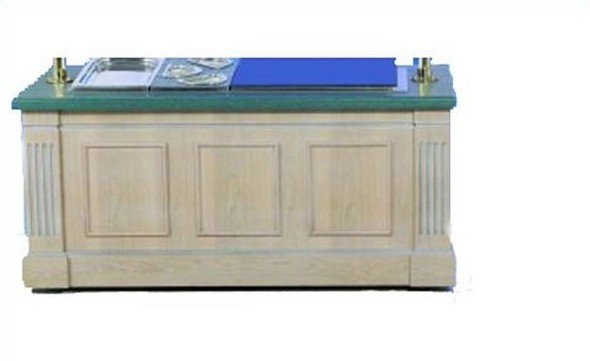 Bon Chef 50095 Euro Modular Buffet Station with Walnut Mahogany Finish, 6' L