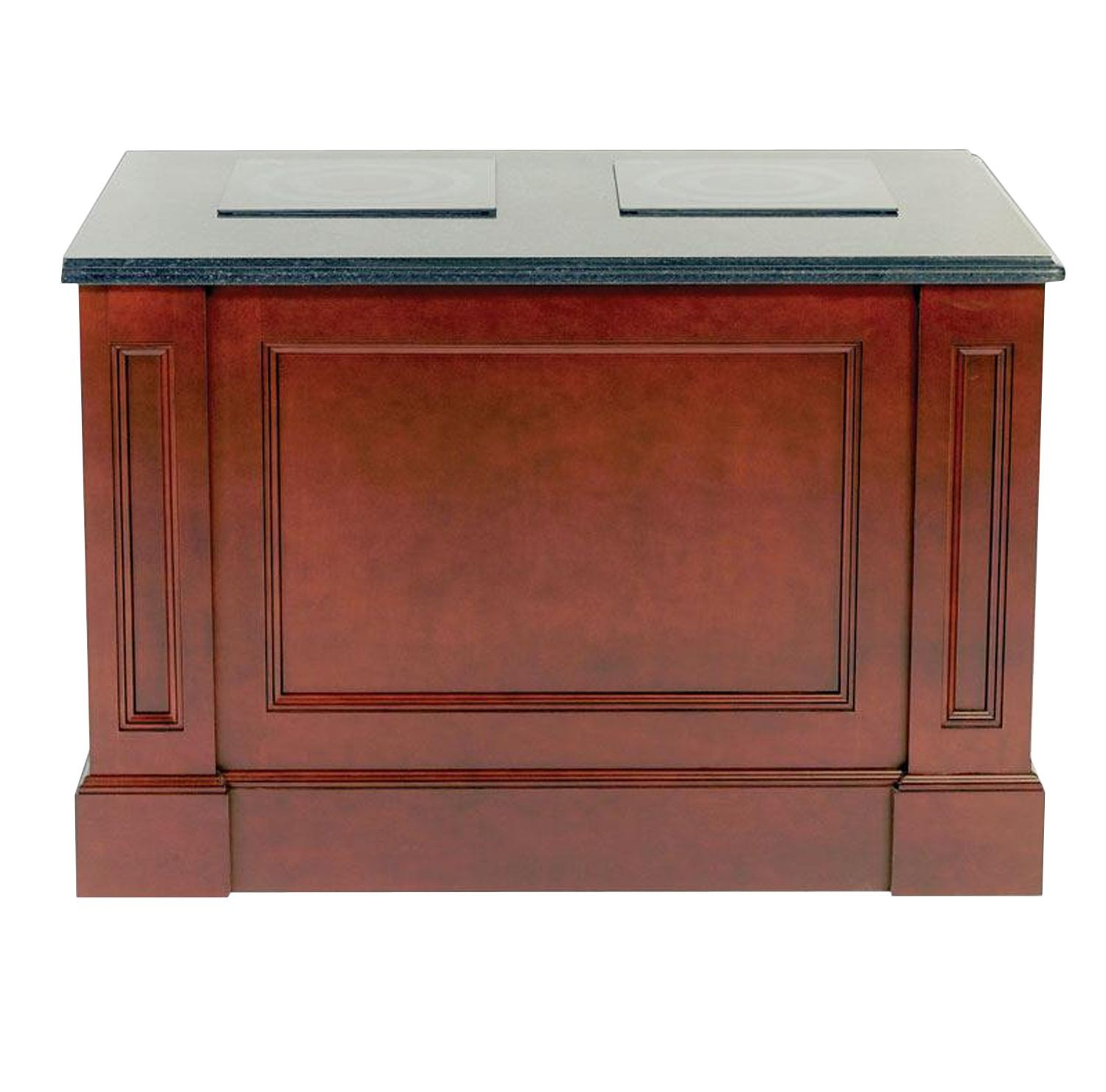 Bon Chef 50152 Double Station Recessed Panel Buffet with Standard Corian Top