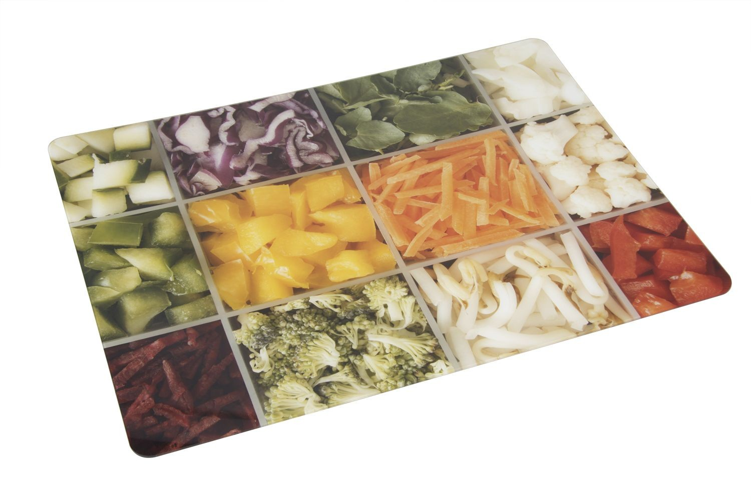 Bon Chef 50156CL-6 Acrylic City Lights Center Panel, Tossed Salads and Assorted Vegetables