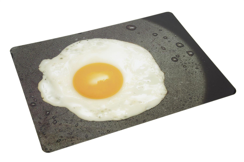 Bon Chef 50156HS-2 Acrylic High Street Center Panel, Fried Egg in Saute Pan