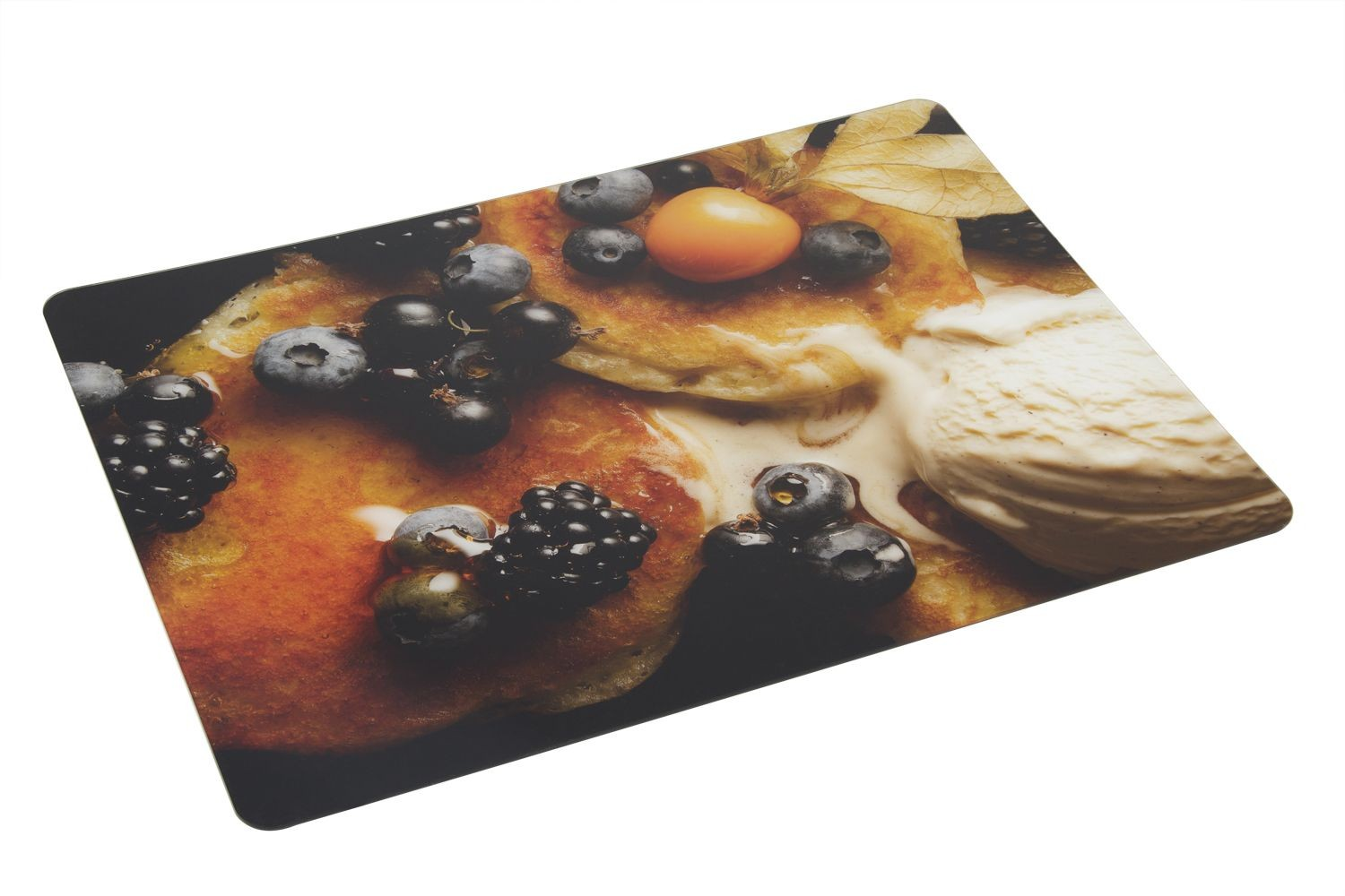 Bon Chef 50156HS-6 Acrylic High Street Center Panel, Pancakes with Fruit and Ice Cream