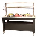 "Bon Chef 50157 Radiant Heat Buffet Station with Overhead Heat, 68"" x 30"" x 66"""