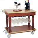 "Bon Chef 50174 Wine and Beverage Cart, 38"" x 18"" x 32"""