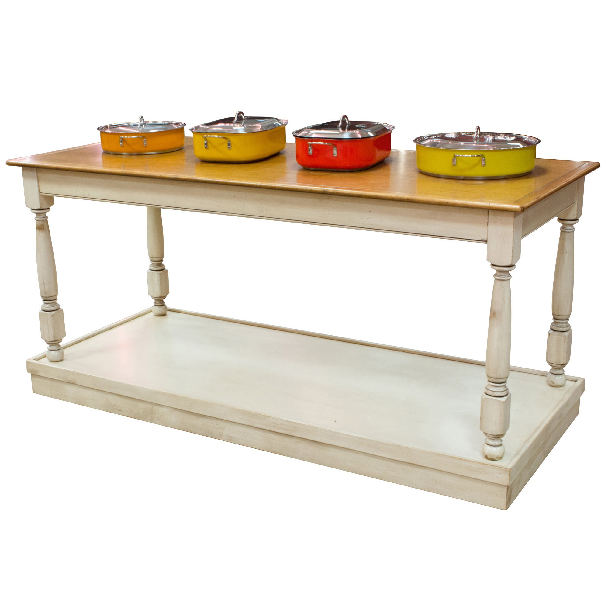 "Bon Chef Country Style Residential Rolling Table 30"" x 72"