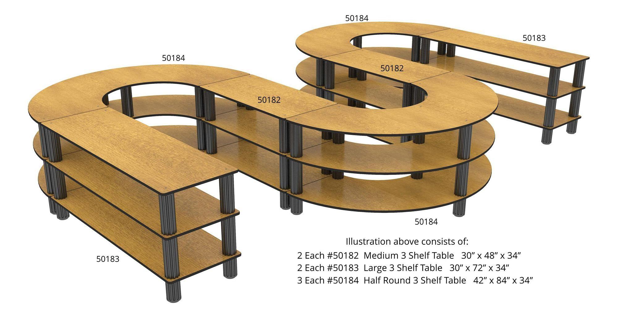 bon chef 50183lvcherry large 3 shelf flex table with cherry finish 30 x 72 x 34 lionsdeal. Black Bedroom Furniture Sets. Home Design Ideas