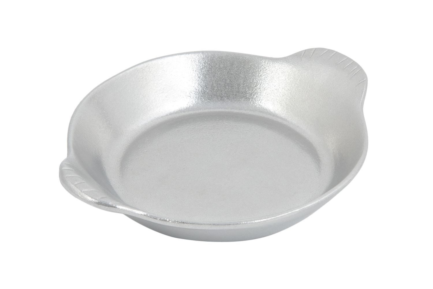 "Bon Chef 5019P Large Round Shirred Egg Dish, Pewter Glo 8 1/4"" Dia., Set of 12"