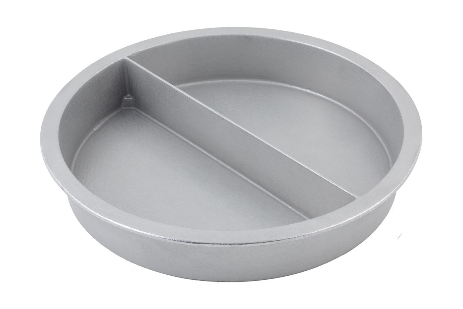 Bon Chef 5074P Round Divided Food Pan, Pewter Glo 8 Qt..