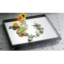 "Bon Chef 51001 Display Mirror Tray with Wood Border, 30"" x 30"""