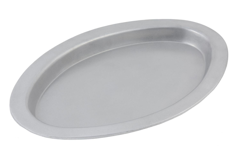 "Bon Chef 5110P Oval Casserole Dish, Pewter Glo 11 3/8"" x 17 3/8"" x 1"""