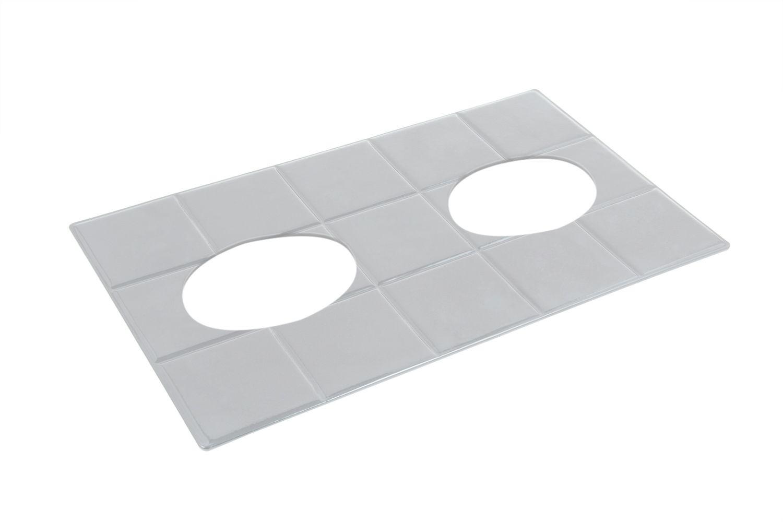 "Bon Chef 52033P EZ Fit Custom Cut Tile for (2) 9140, Pewter Glo 12 3/4"" x 10 3/8"""