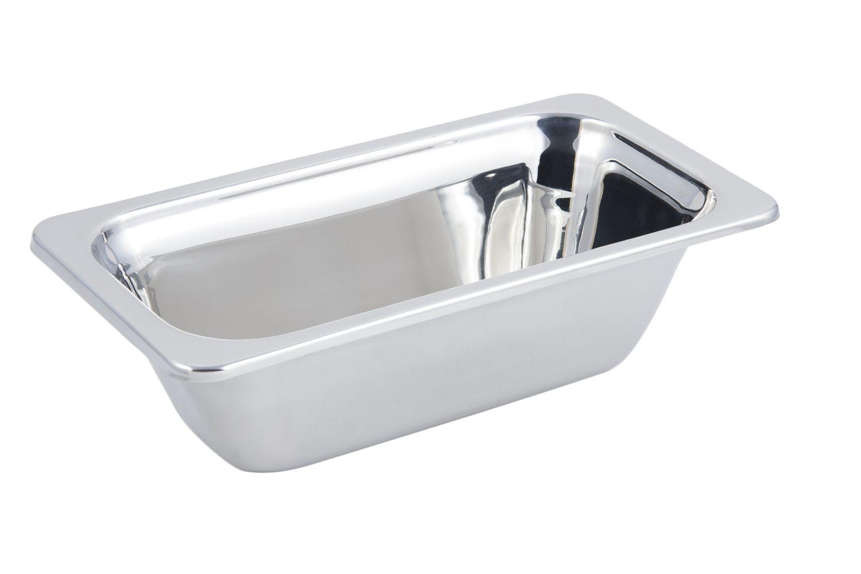 Bon Chef 5213 Plain Design 1/3 Size Food Pan, 2 Qt.